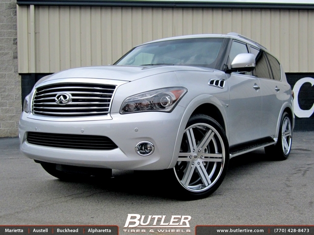 Infiniti QX80 with 24in Black Rhino Letaba Wheels