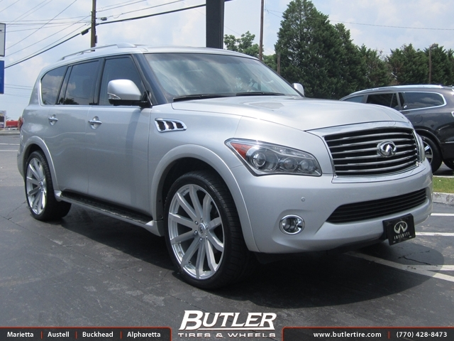infiniti qx80 with 24in black rhino traverse wheels. Black Bedroom Furniture Sets. Home Design Ideas