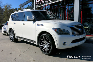 Infiniti QX80 with 24in Lexani Wraith Wheels