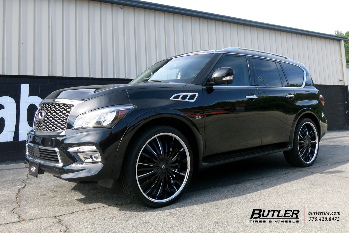 Infiniti Qx80 With 26in Lexani Royal Wheels Exclusively