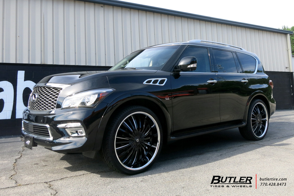 Infiniti QX80 with 26in Lexani Royal Wheels exclusively from Butler Tires and Wheels in Atlanta ...