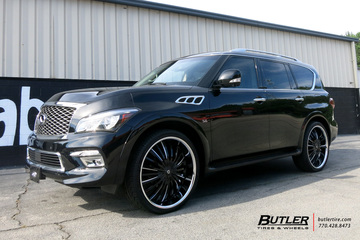 Infiniti QX80 with 26in Lexani Royal Wheels
