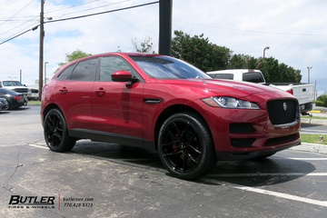 Jaguar F-Pace with 22in Savini SV-F5 Wheels