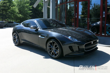 Jaguar F-Type with 21in Savini SV-F4 Wheels