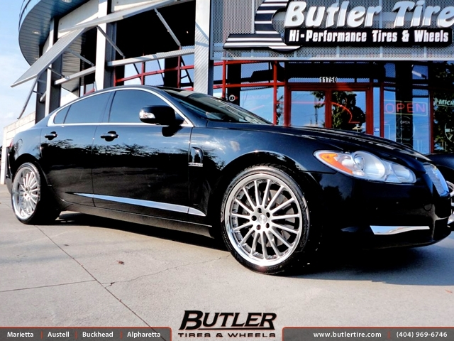 Jaguar XF with 20in Coventry Whitley Wheels exclusively from Butler