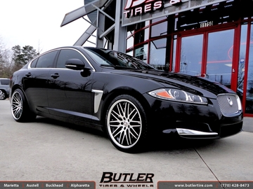 Jaguar XF with 20in Lexani CVX 44 Wheels