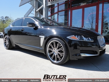 Jaguar XF with 20in Savini BM3 Wheels