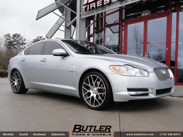 Jaguar XF with 20in TSW Nurburgring Wheels