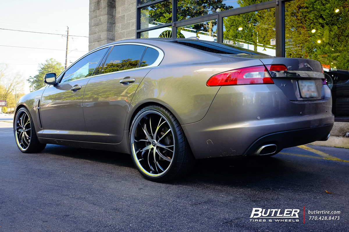 Jaguar XF with 22in Lexani Polaris Wheels