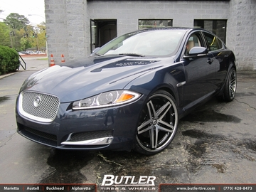 Jaguar XF with 22in Lexani R-Five Wheels