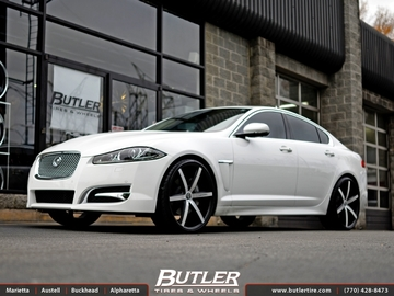 Jaguar XF with 22in Lexani R-Six Wheels