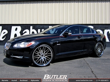 Jaguar XF with 22in Savini BM4 Wheels