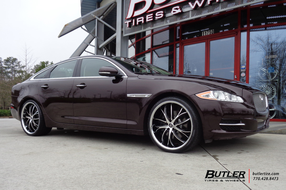 Jaguar Xj With 22in Lexani Polaris Wheels Exclusively From Butler