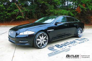 Jaguar XJL with 22in Forgiato Attivo Wheels