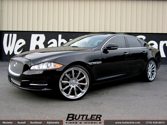 Jaguar XJL with 22in Lexani CVX 55 Wheels