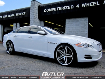 Jaguar XJL with 22in Lexani R-Five Wheels