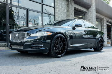 Jaguar XJL with 22in Savini BM14 Wheels