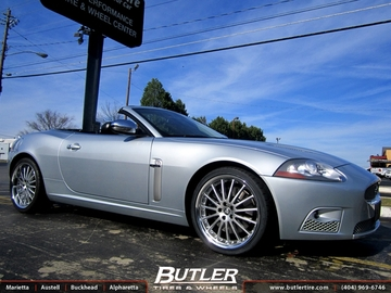 Jaguar XK with 20in Coventry Whitley Wheels