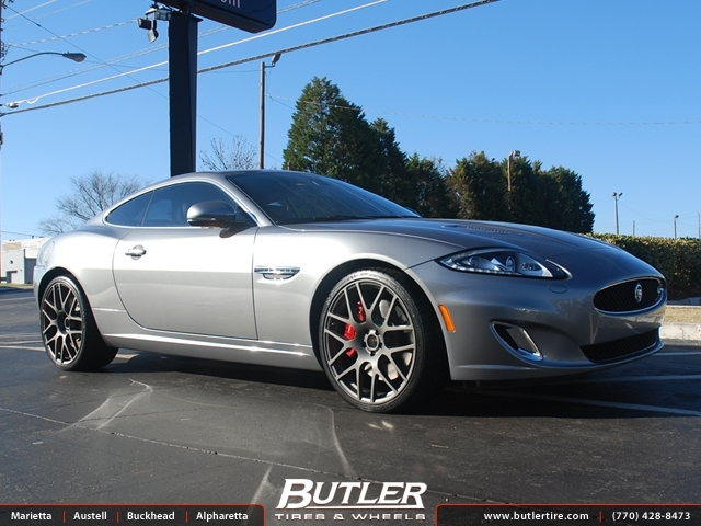Jaguar Xkr With 21in Tsw Nurburgring Wheels Exclusively