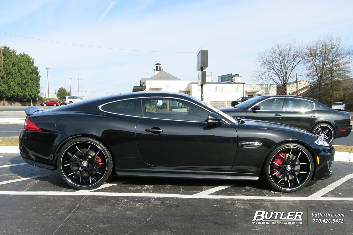 Jaguar XKR with 22in Lexani R-Twelve Wheels exclusively from Butler