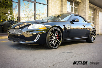 Jaguar XKR with 22in Savini BM13 Wheels