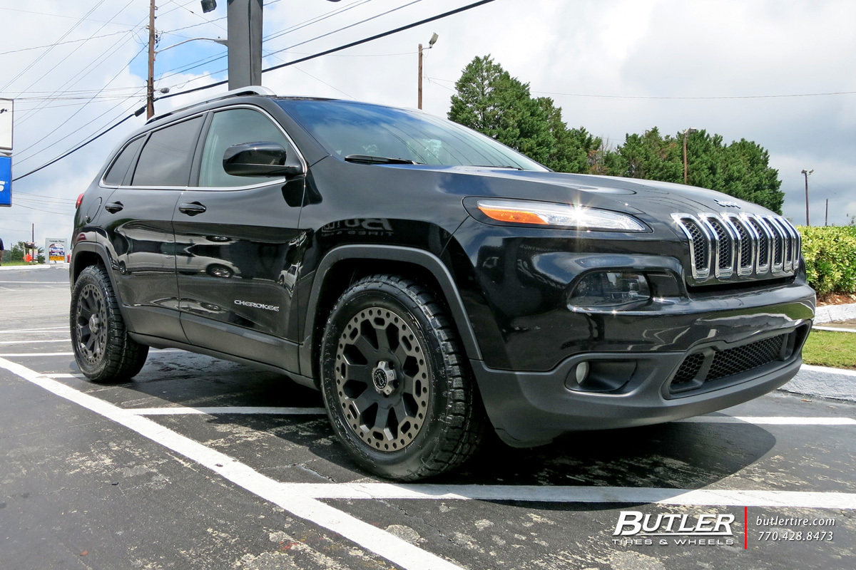 jeep cherokee with 18in black rhino warlord wheels. Black Bedroom Furniture Sets. Home Design Ideas