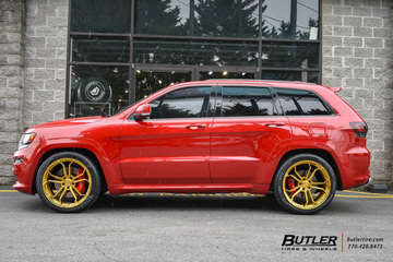 Jeep Cherokee SRT-8 with 22in Avant Garde M632 Wheels