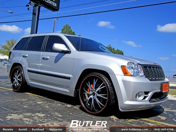 Jeep Cherokee SRT-8 with 24in Dub Type 12 Wheels