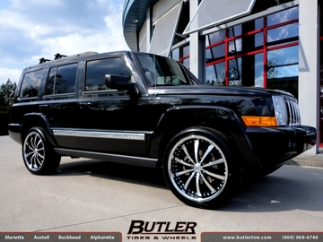 Jeep Commander with 22in Lexani LSS10 Wheels