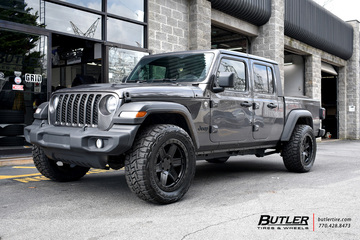 Jeep Gladiator with 20in Black Rhino Attica Wheels