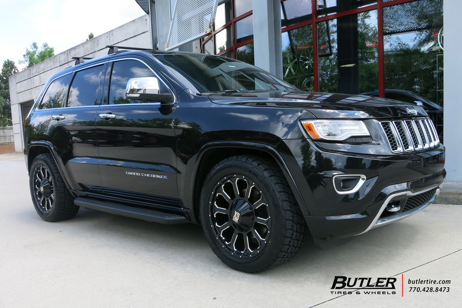 jeep grand cherokee with 20in xd bomb wheels exclusively from butler tires and wheels in atlanta. Black Bedroom Furniture Sets. Home Design Ideas
