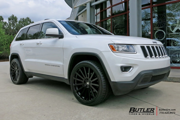 Jeep Grand Cherokee with 22in Black Rhino Kruger Wheels