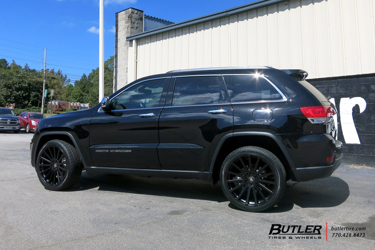 jeep grand cherokee with 22in black rhino spear wheels. Black Bedroom Furniture Sets. Home Design Ideas