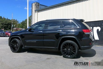 Jeep Grand Cherokee with 22in Black Rhino Spear Wheels