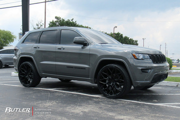 Jeep Grand Cherokee with 24in Vossen HF-2 Wheels