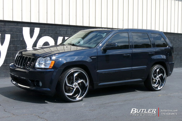 Jeep Grand Cherokee SRT-8 with 24in Lexani LF761 Wheels