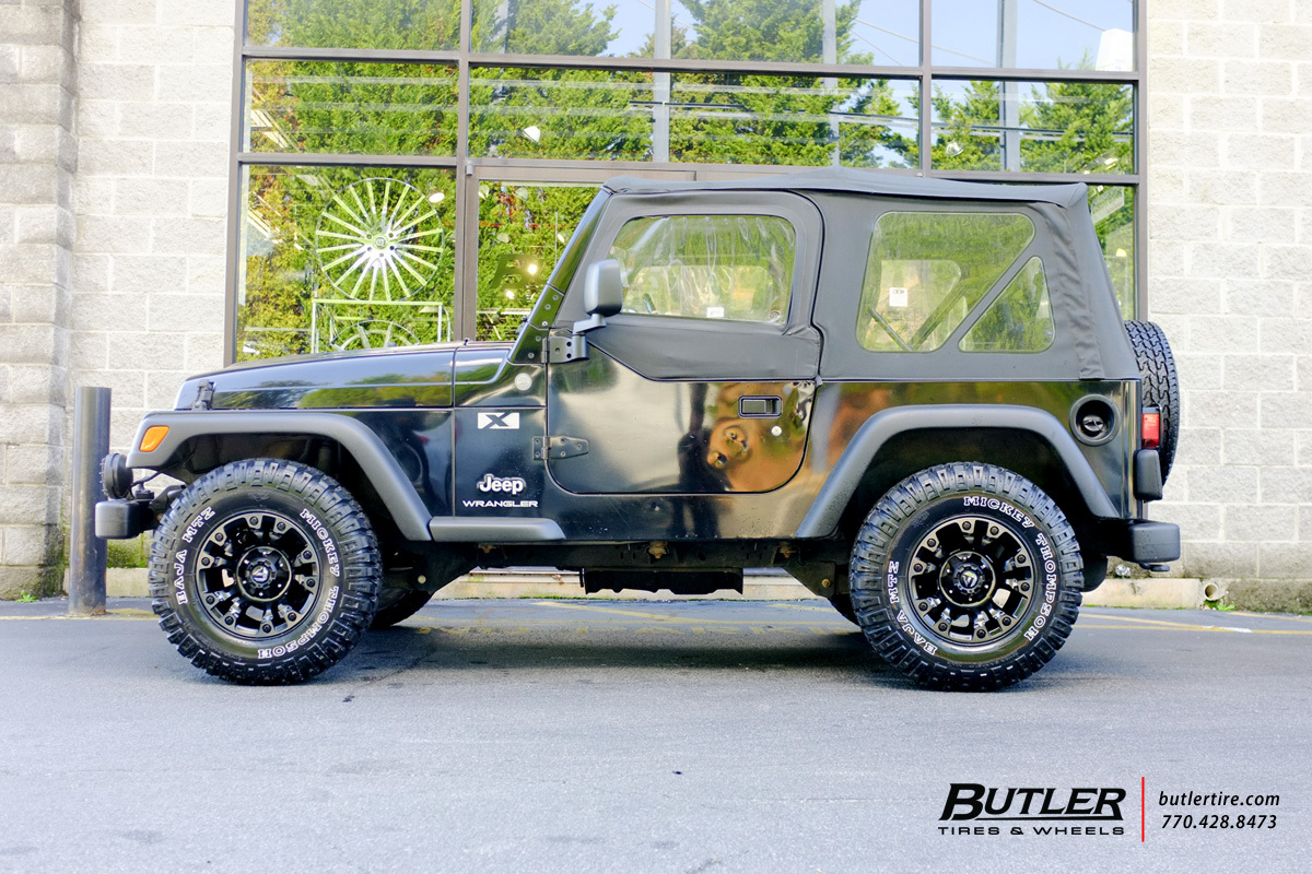 Jeep Wrangler with 15in Fuel Vapor Wheels