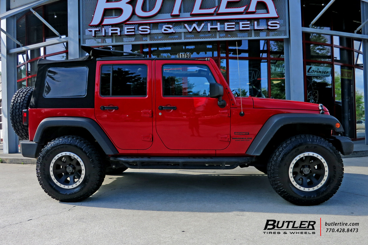 Jeep Wrangler Rims And Tire Packages >> Jeep Wrangler with 17in Black Rhino 500 Wheels exclusively ...