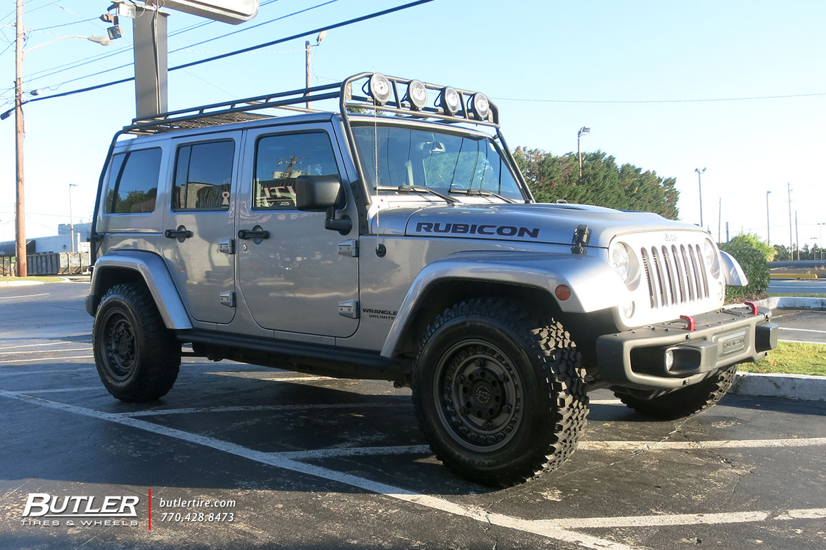 Jeep Wrangler with 17in Black Rhino Armory Wheels