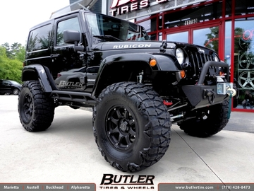 Jeep Wrangler with 17in Black Rhino Glamis Wheels