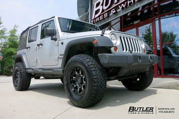 Jeep Wrangler with 17in Black Rhino Sierra Wheels