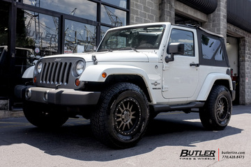 Jeep Wrangler with 17in Black Rhino Tanay Wheels