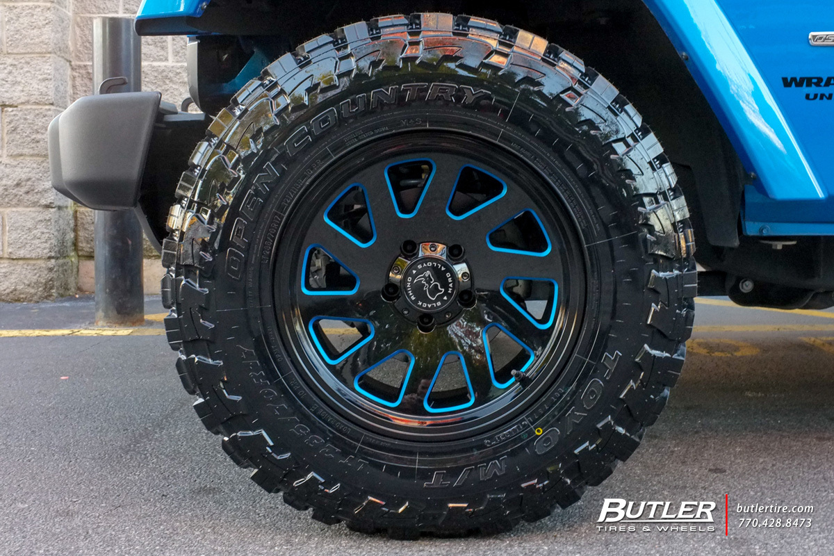 Jeep Wrangler with 17in Black Rhino Thrust Wheels