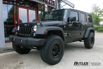 Jeep Wrangler with 17in Method Racing NV Wheels