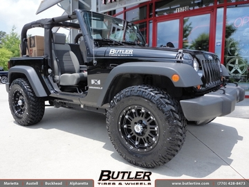 Jeep Wrangler with 17in XD Hoss Wheels