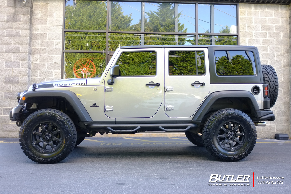 Rt 18 Jeep >> Jeep Wrangler with 18in Black Rhino Glamis Wheels ...