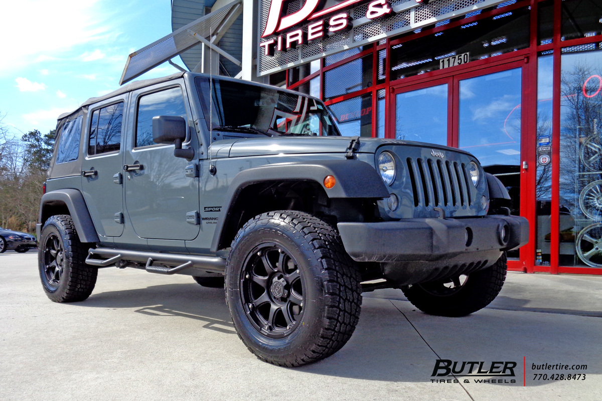 Jeep Wrangler with 18in Black Rhino Glamis Wheels