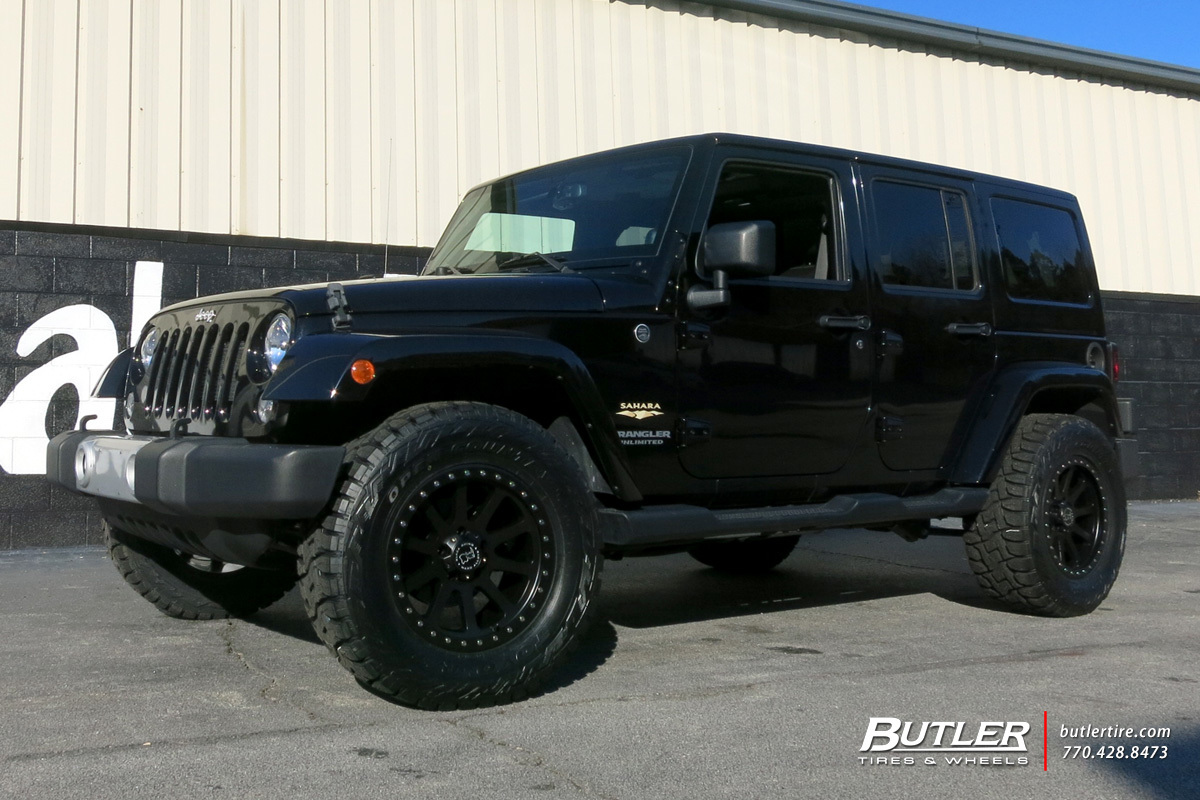 Jeep Wrangler with 18in Black Rhino Mint Wheels