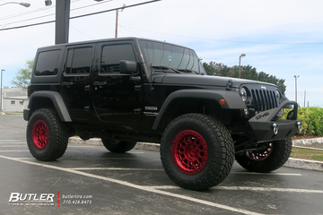 Jeep Wrangler with 18in Black Rhino Primm Wheels
