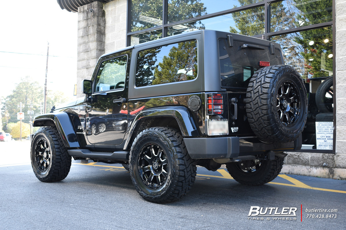 Rt 18 Jeep >> Jeep Wrangler with 18in Black Rhino Sierra Wheels exclusively from Butler Tires and Wheels in ...